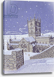 Постер Парсонос Хью (совр) St. David's Cathedral in the Snow, 1996
