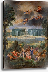Постер Котель Джин Младший The Groves of Versailles. View of the pool of Neptune and walkway with the Judgement of Paris