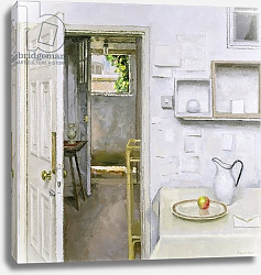 Постер Хардакер Чарльз (совр) Open Doors with Still Life and Letter, 2004