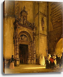 Постер Альт Рудольф Side portal of Como Cathedral, 1850
