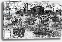 Постер Школа: Итальянская 16в. The Arrival of Henri III of France in the Lido of Venice on 8 July 1574, 1591