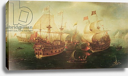 Постер Врум Корнелис Naval Battle, 1605