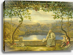 Постер Фабер Иохим A Monk on a Terrace at the Nemi Lake, 1818