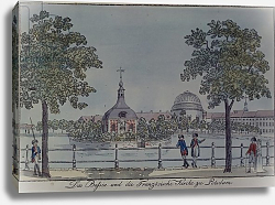 Постер Нагель Йоханн The Pool and French Church in Potsdam, c.1796