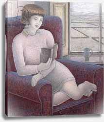 Постер Эдиналл Рут (совр) Girl Reading in Armchair, 2009