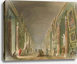 Постер Робер Юбер The Grand Gallery of the Louvre between 1801 and 1805