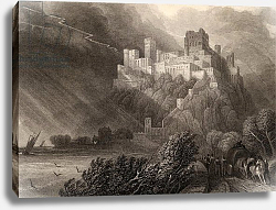 Постер Робертс Давид The ruins of Rheinfels, by W. Radclyffe, illustration from 'The Pilgrims of the Rhine' 1840
