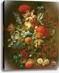 Постер Эллигер Оттмар Flower Still Life with Bird Nest