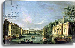Постер Валериани Джузеппе View of the Fontanka River in St Petersburg, 1750s