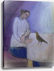 Постер Джеймисон Сью (совр) Woman with a Bird, 2003