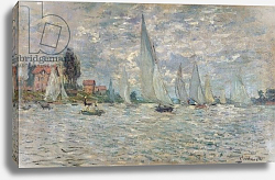 Постер Моне Клод (Claude Monet) The Boats, or Regatta at Argenteuil, c.1874