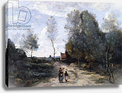 Постер Коро Жан (Jean-Baptiste Corot) The Road