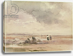 Постер Кокс Давид On Lancaster Sands, Low Tide, c.1840-47