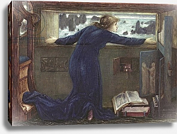 Постер Берне-Джонс Эдвард Dorigen of Bretaigne longing for the Safe Return of her Husband, 1871