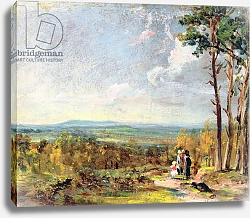 Постер Констебль Джон (John Constable) Hampstead Heath Looking Towards Harrow, 1821