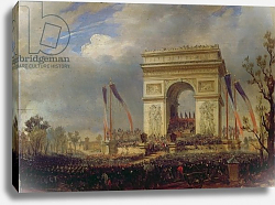 Постер Себрон Ипполит Fete de la Fraternite at the Arc de Triomphe, Place de l'Etoile, Paris om 20th April 1848