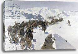 Постер Роубаннд Франц Count Argutinsky crossing the Caucasian Range, 1892