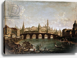 Постер Алексеев Федор View of the Kremlin and the Kamenny Bridge in Moscow, 1810s