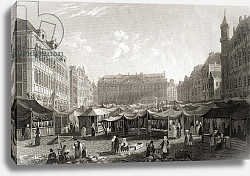 Постер Бэтти The Grande Place, Brussels, from 'Select Views of some of the Principal Cities of Europe, 1832