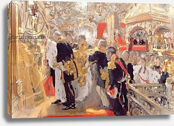 Постер Серов Валентин The Crowning of Emperor Nicholas II in the Assumption Cathedral, 1896