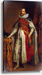 Постер Дик Энтони Portrait of Henry Danvers, 1st Earl of Danby, in robes of a Knight of the Garter, c.1630