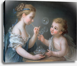 Постер Лиотар Жан Этьен Children blowing bubbles