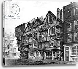 Постер Школа: Английская 18в. Old houses and shopfronts on Chancery Lane, London, 1798