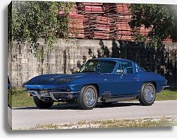 Постер Corvette Coupe by GM Styling (C2) '1964