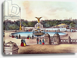 Постер Неизвестен Bethesda Fountain, Central Park, New York, published by Nathaniel Currier and James Merritt Ives