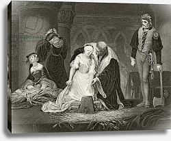 Постер Деларош Ипполит The execution of Lady Jane Grey, 12 February 1554,  published London, c.1890
