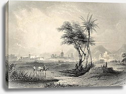 Постер Palermo surroundings, Italy. Original engraving created by J. Muller and A. H. Payne in 1840