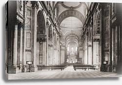 Постер The nave of St. Paul's Cathedral, London, England in the late 19th century
