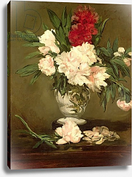 Постер Мане Эдуард (Edouard Manet) Vase of Peonies on a Small Pedestal, 1864