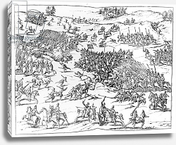 Постер Школа: Немецкая 17в The Battle of Courtrais Between the French and the Flemish in 1580