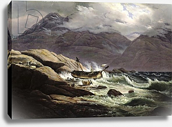 Постер Даль Йоханн Shipwreck on the Norwegian Coast, 1831