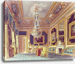 Постер Пайн Уильям (грав) The Blue Velvet Room, Carlton House from Pyne's 'Royal Residences', 1818
