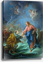 Постер Буше Франсуа (Francois Boucher) St. Peter Invited to Walk on the Water, 1766