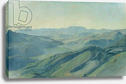 Постер Васман Рудольф View of the countryside in the Tyrol, c.1842