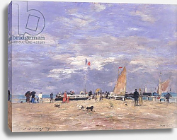 Постер Буден Эжен (Eugene Boudin) The Jetty at Deauville, 1869