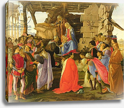 Постер Боттичелли Сандро (Sandro Botticelli) Adoration of the Magi
