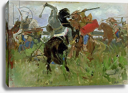 Постер Battle between the Scythians and the Slavonians, 1879