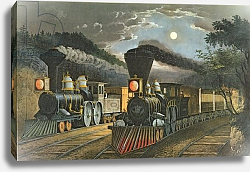 Постер Курье Н. The Lightning Express Trains, 1863