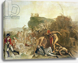 Постер Зоффани Йоханн The Death of Captain James Cook, 14th February 1779