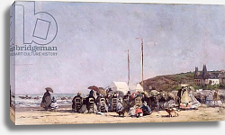 Постер Буден Эжен (Eugene Boudin) The Beach at Trouville, 1864