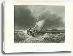 Постер Dutch Boats in a Gale 2