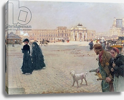 Постер Ниттис Джузеппе La Place du Carrousel, Paris: The Ruins of the Tuileries, 1882