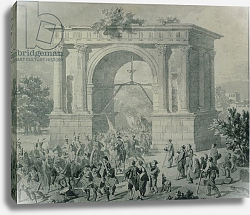 Постер Таунай Николя The entrance of French troops to A'Osta in May 1800
