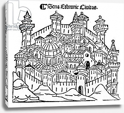 Постер Форести Джакомо View of Siena, from 'Supplementum chronicarum', edition published in 1490