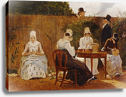 Постер Агассе Жак The Chalon Family in their London Town Garden, early 1800s