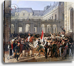 Постер Верне Антуан The Duke of Orleans Leaves the Palais-Royal and Goes to the Hotel de Ville on 31st July 1830, 1832